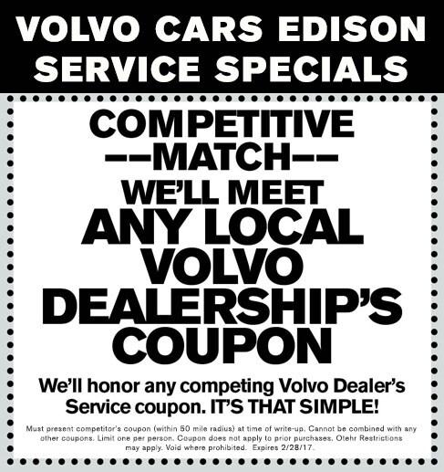 Volvo Dealers Pa: Volvo Service Specials In Edison