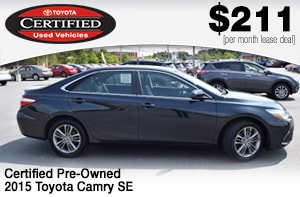 toyota camry certified lease deal