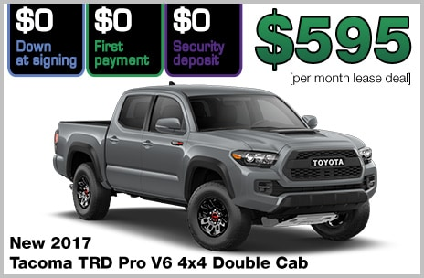 Toyota Tacoma TRD Pro Zero Down Lease Deal