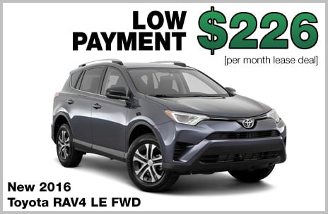 Toyota RAV4 Money Down Lease
