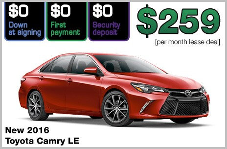 Toyota Camry Zero Down Lease Deal