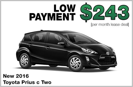 Toyota Prius C Money Down Lease Deal