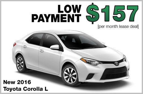Toyota Corolla Money Down