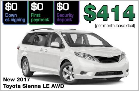 Zero Down Toyota Lease Deals | 802 Toyota of Vermont