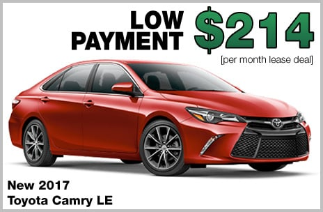Toyota Camry Money Down Lease Deal