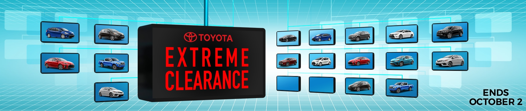 Toyota extreme clearance event