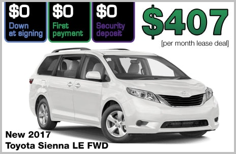 Toyota Sienna Lease Deals