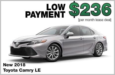camry money down lease deal