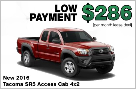Toyota Tacoma Money Down Lease