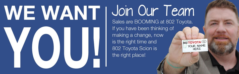 job openings at 802 Toyota