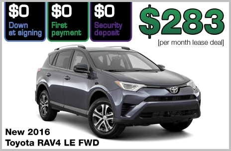 Toyota RAV4 Zero Down Lease