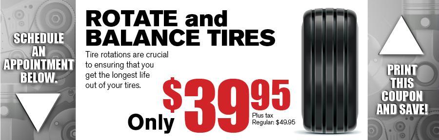 Rotate Amp Balance Tires Vandergriff Honda Service Coupon