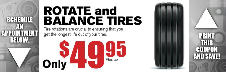 Rotate Amp Balance Tires Vandergriff Toyota Service Coupon