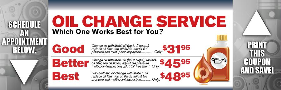 Oil Change Service Vandergriff Toyota Service Coupon