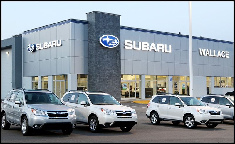 Front Elevation Of Furniture Showroom : New showroom wallace subaru johnson city serving