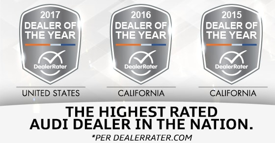 Walter's Audi DealerRater Dealer of the Year