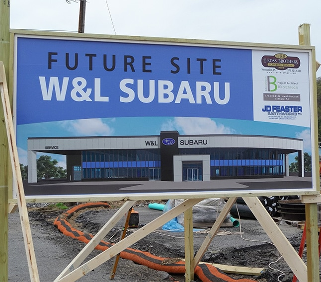 We Are Expanding W&L Subaru | Northumberland, PA