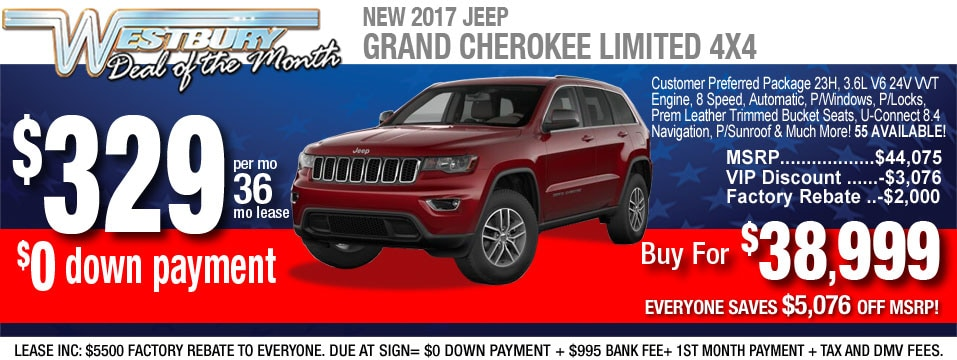 2017 Jeep Grand Cherokee Financing Lease Deals Nj