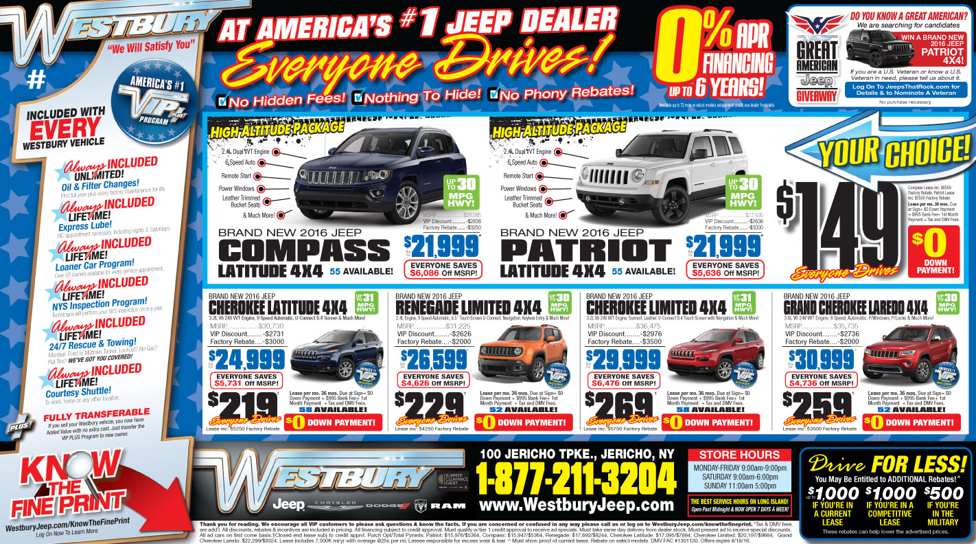 Westbury Jeep Chrysler Dodge New Chrysler Dodge Jeep