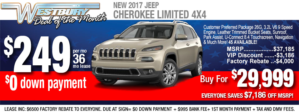jeep cherokee limited lease deal and sale at long islane jeep dealer. Cars Review. Best American Auto & Cars Review