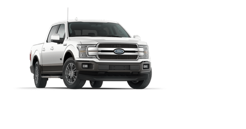 A white 2018 Ford F-150 King Ranch