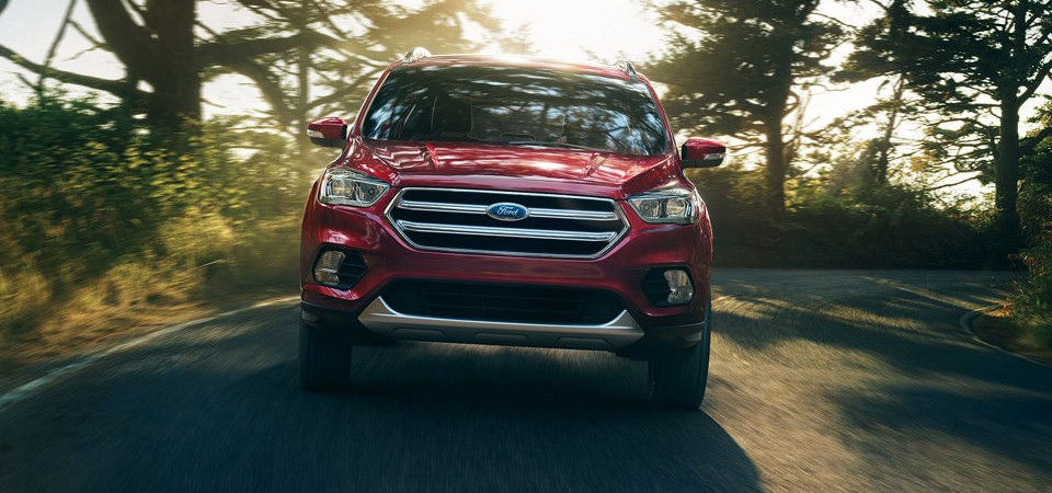 2017 Ford Escape driving towards viewer