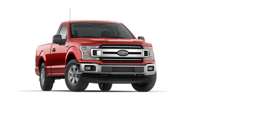 A red 2018 Ford F-150 XLT
