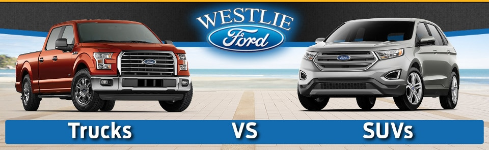 Trucks vs. SUVs banner image