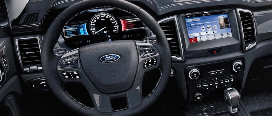 The interior of the 2019 Ford Ranger