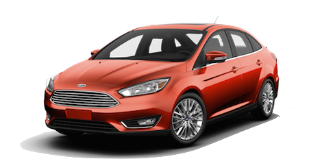 A red 2018 Ford Focus