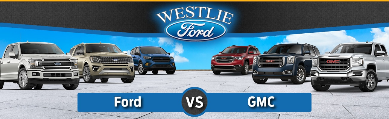 A comparison of Ford and GMC Vehicles