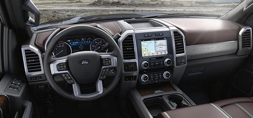 The interior of a Ford F-250