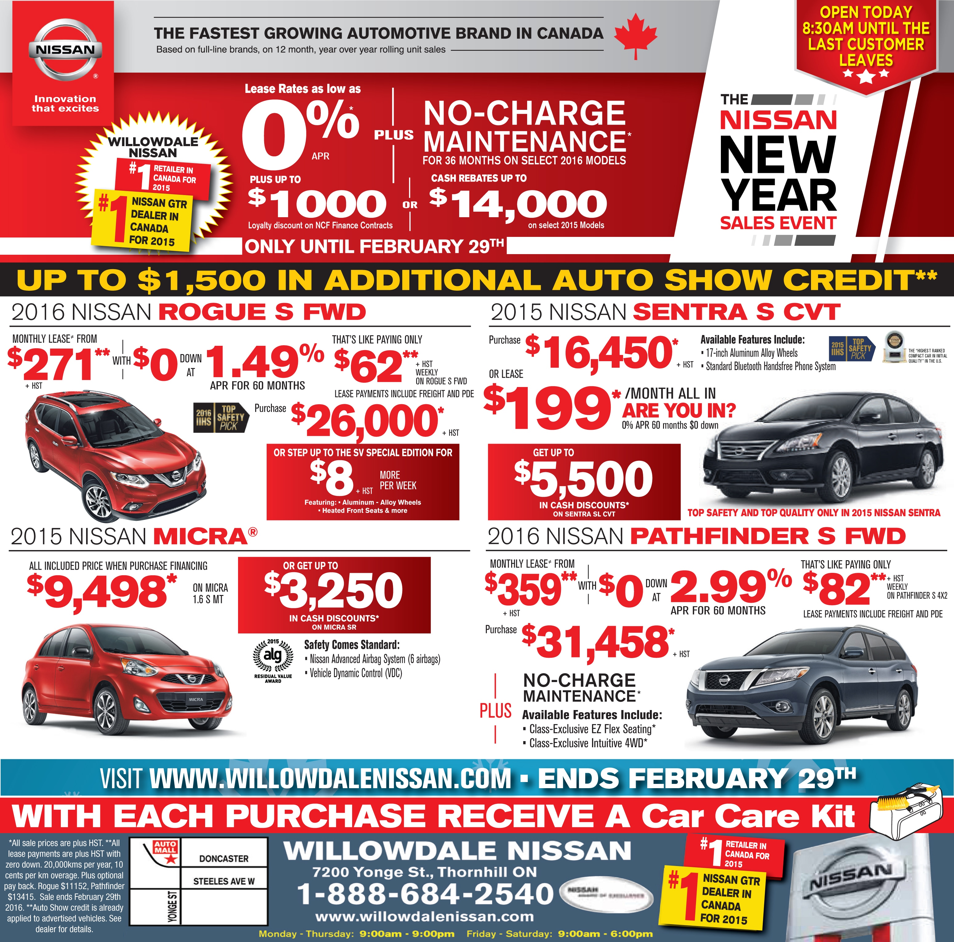 Willowdale Nissan New Nissan Dealership In Thornhill On