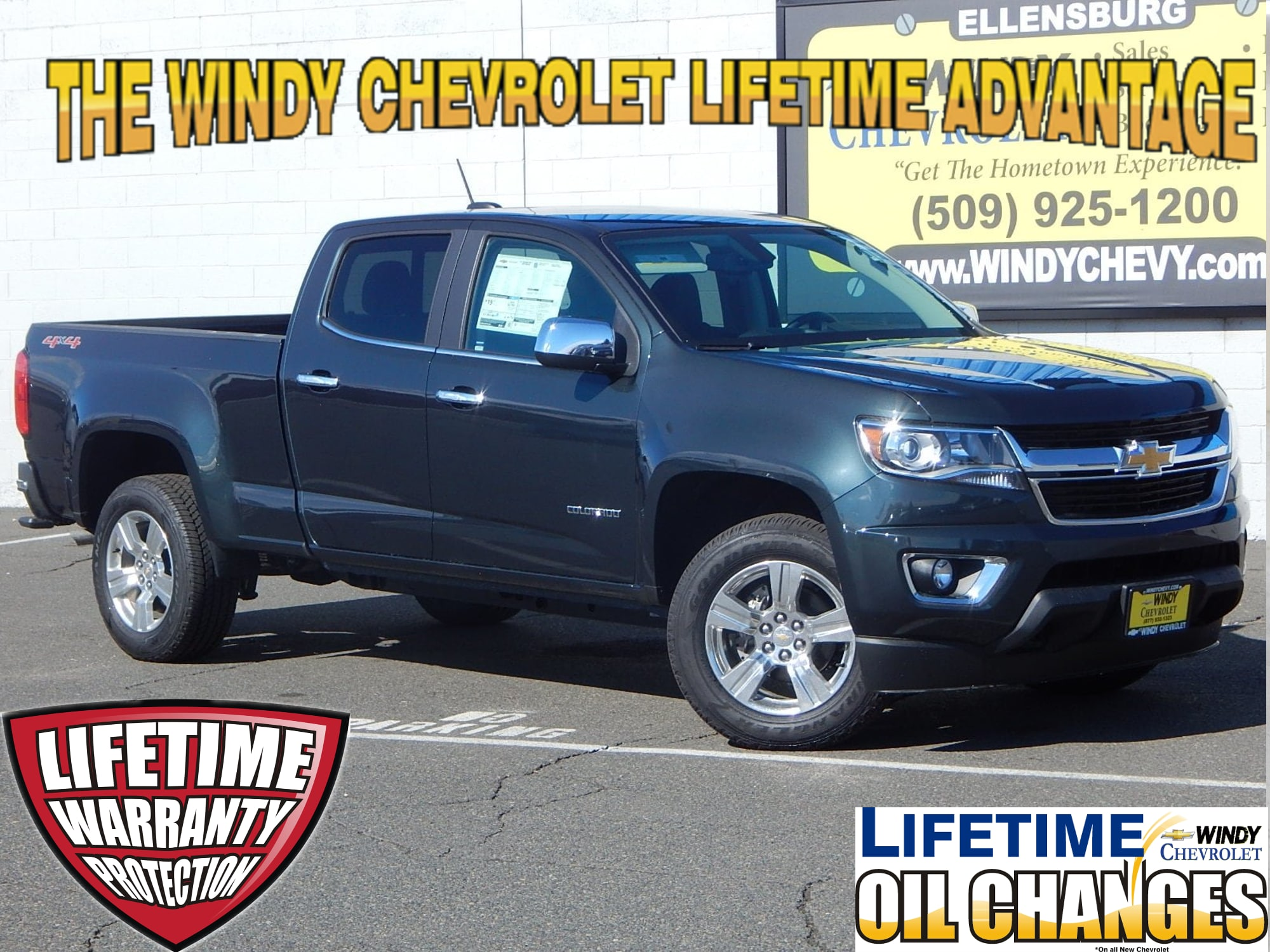2017 Chevrolet Colorado LT Windy Chevrolet offers Lifetime Oil-Changes and Lifetime Warranty Progr