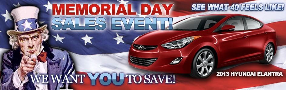 Hyundai Memorial Day 2012 Sale near Chicago at World ...