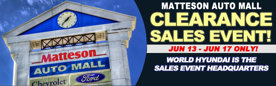 Matteson Auto Mall >> Matteson Auto Mall Clearance Sales Event - Chicago Cheap Cars for Sale