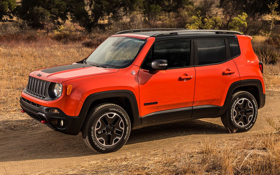 2015 Jeep Renegade Trailhawk in red
