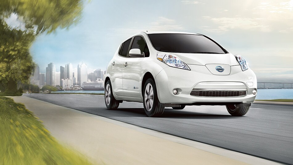 Nissan Leaf in Pearl White