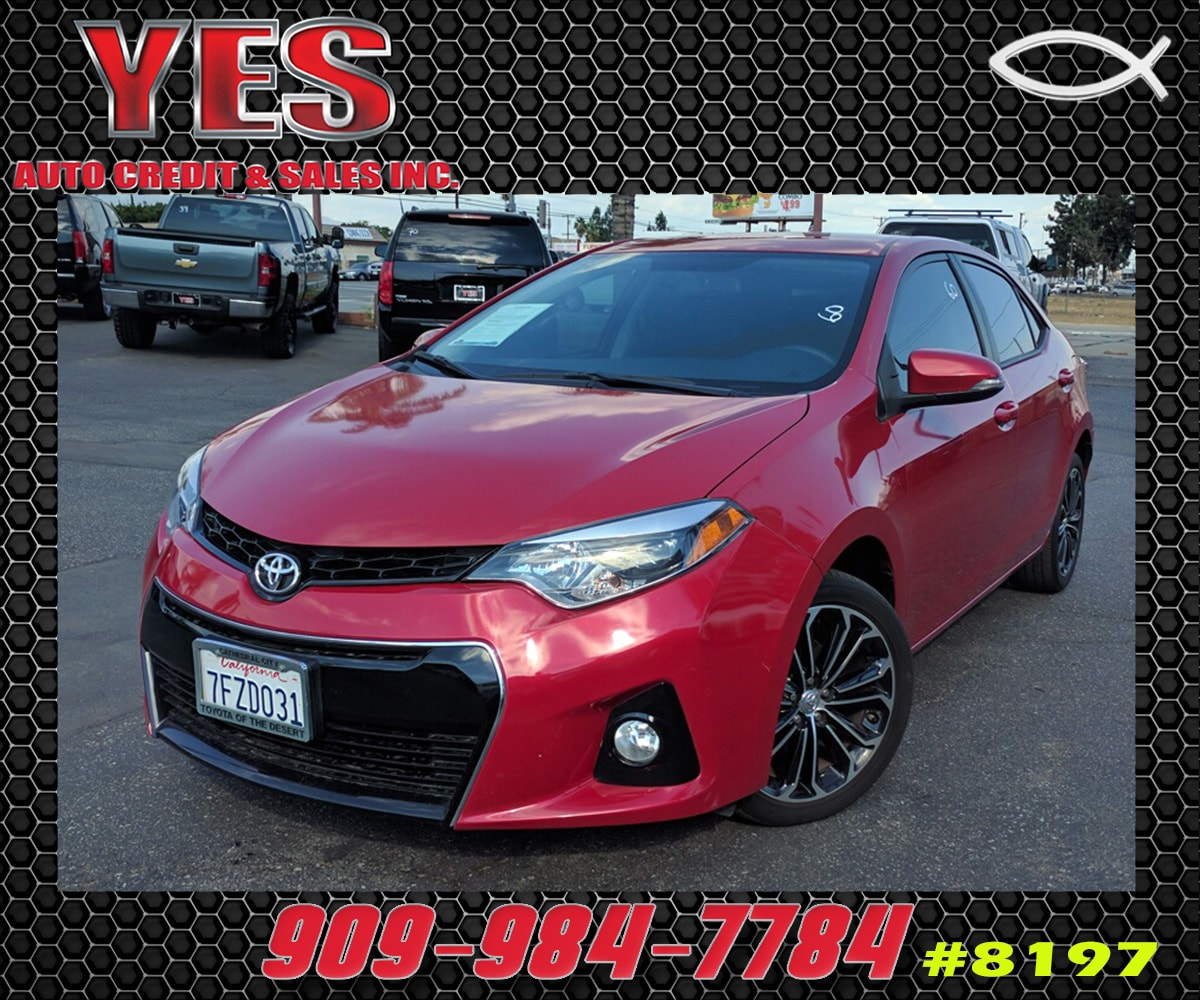 2014 Toyota Corolla S INTERNET PRICE Price does not include tax license fees accessories and