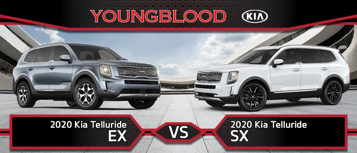 2020 Kia Telluride EX vs 2020 Kia Telluride SX