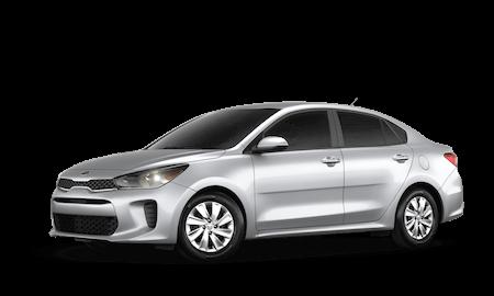 A silver 2020 Kia Rio