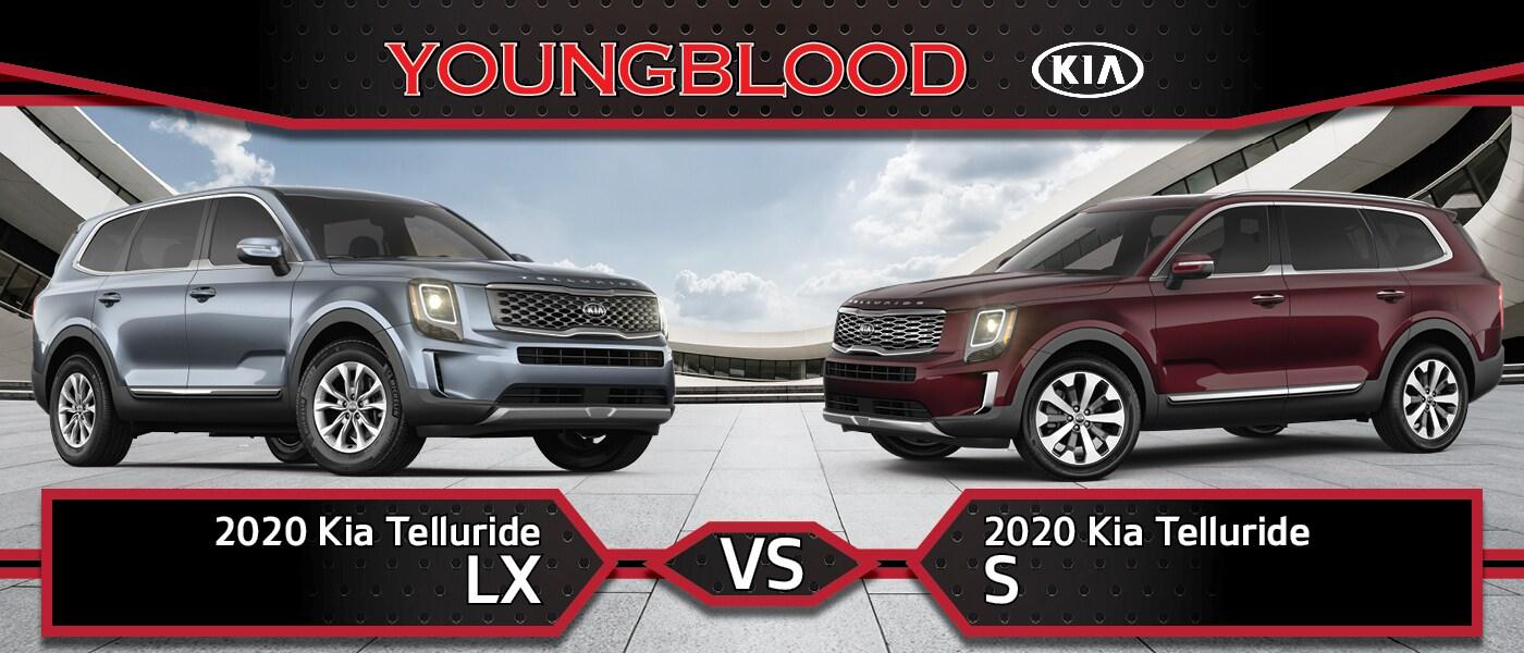2020 Kia Telluride LX vs 2020 Kia Telluride S