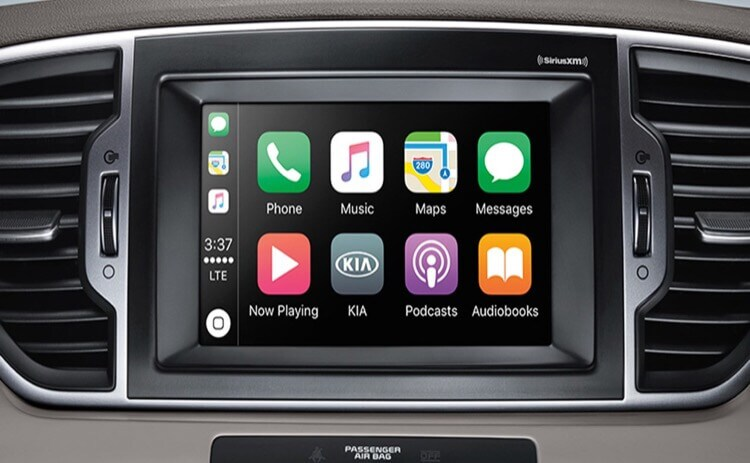 Sportage Technology display