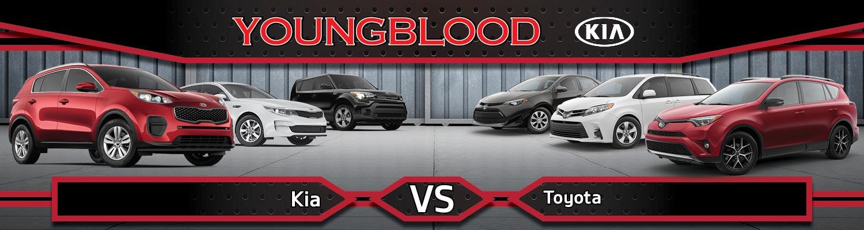 Toyota Dealership Springfield Mo >> Kia Vs Toyota Comparison In Springfield Mo Youngblood Kia