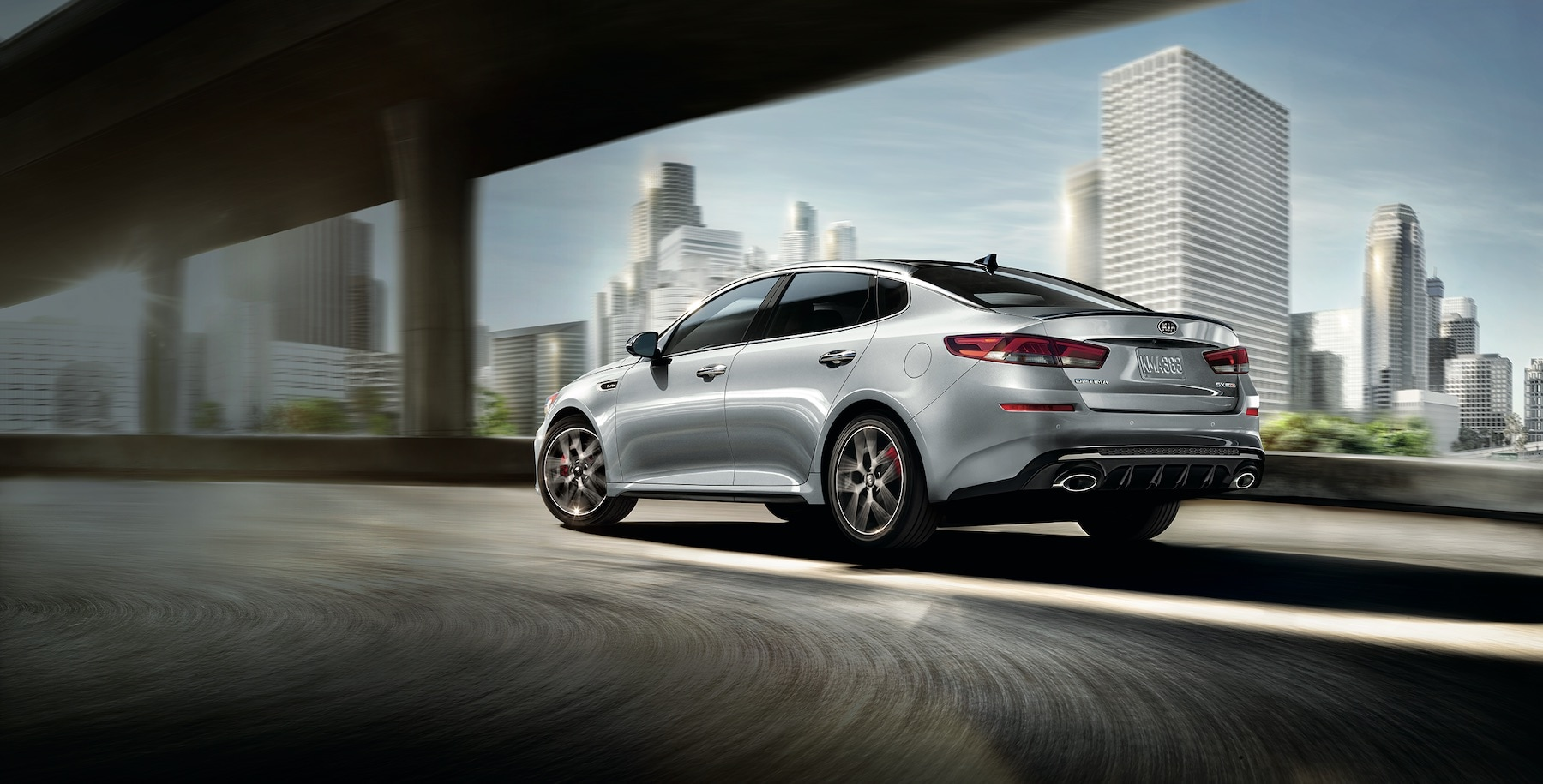 2019 Kia Optima driving on forest road