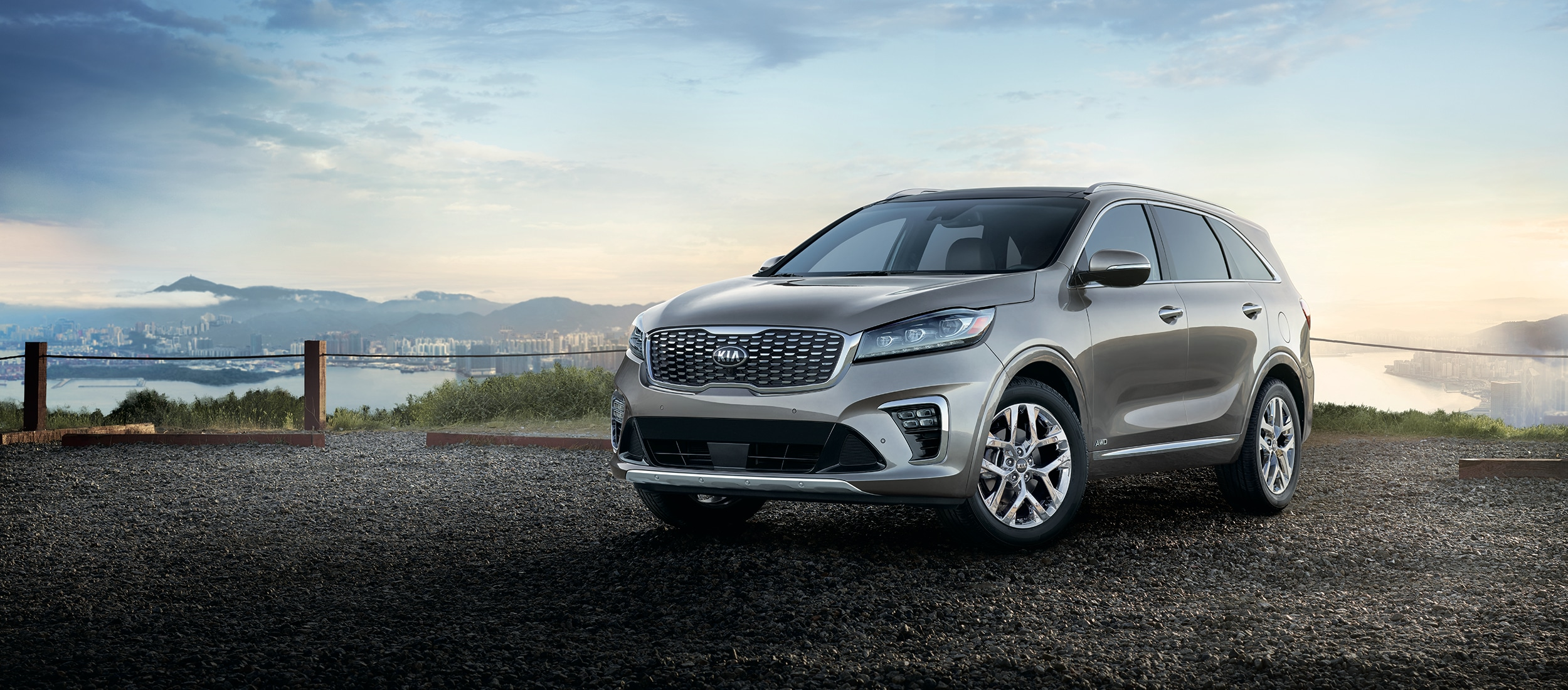 2019 Kia Sorento driving on forest road