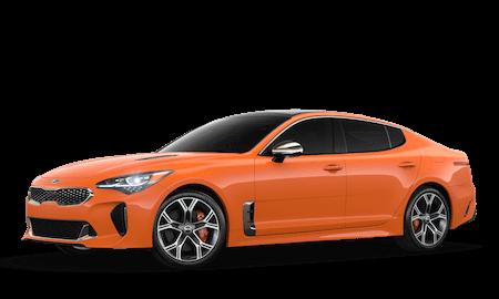 An orange 2020 Kia Stinger