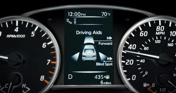 The 2019 Nissan Sentra Driver gauges Vernon Hills, IL Zeigler Nissan of Gurnee