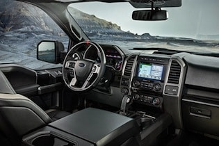 Cabin of the 2017 Ford F-150 Raptor