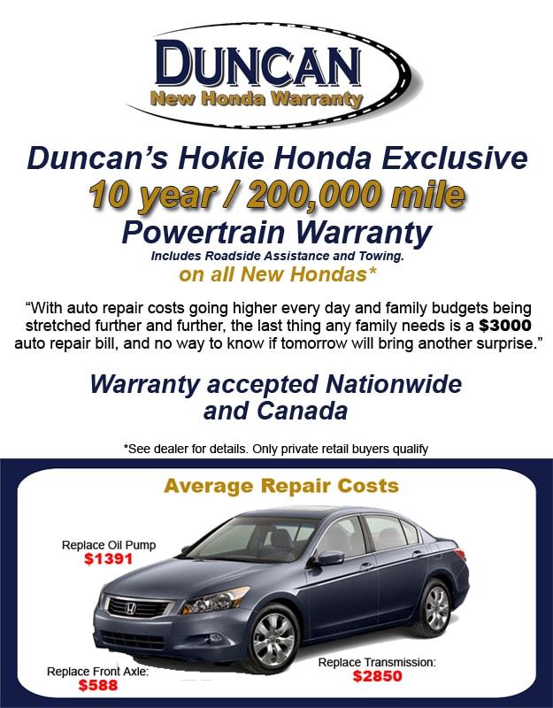 Duncanu0027s New Honda Warranty